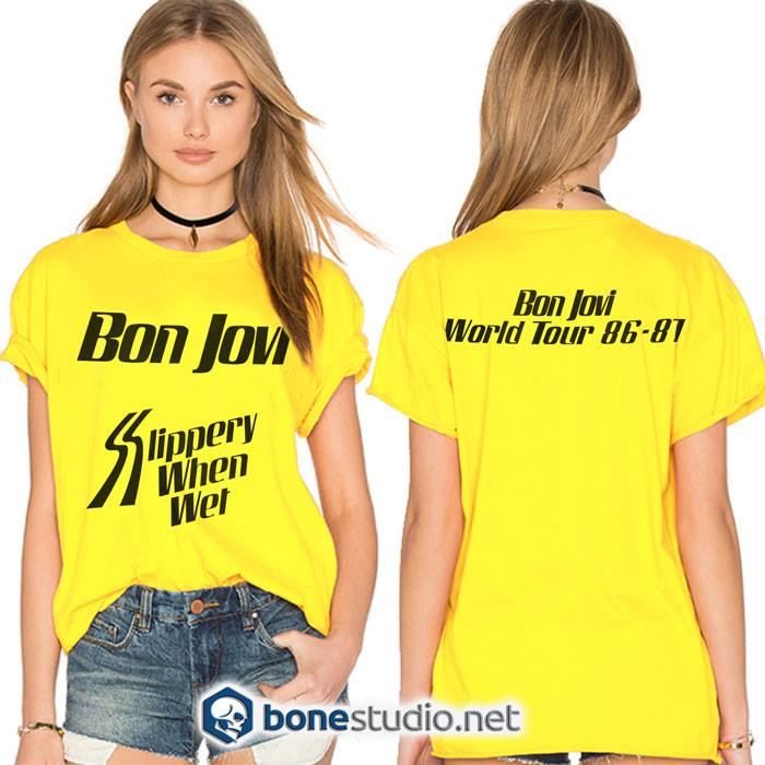 Slippery When Wet Tour Bon Jovi Band T shirt