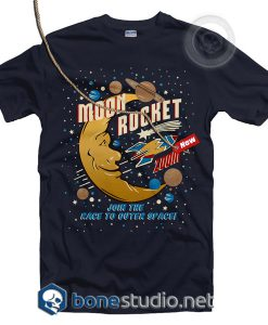 Moon Rocket Vintage T Shirt