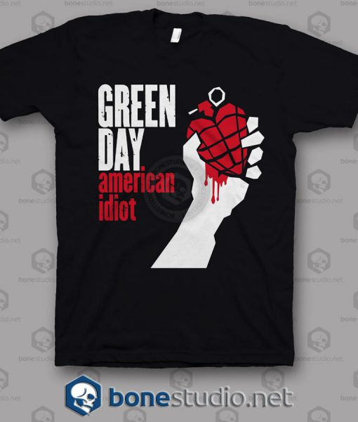 American Idiot Green Day Band T Shirt