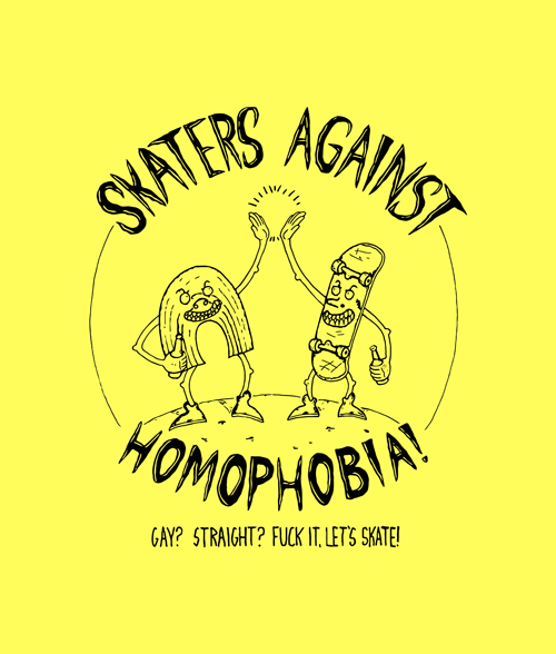 Antique x Way Bad Skaters Against Homophobia T Shirt