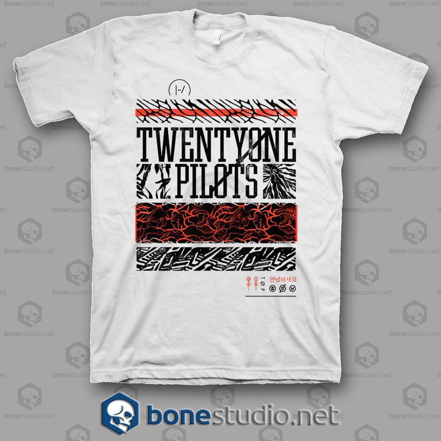 Athletic Stack Twenty One Pilots Band T Shirt