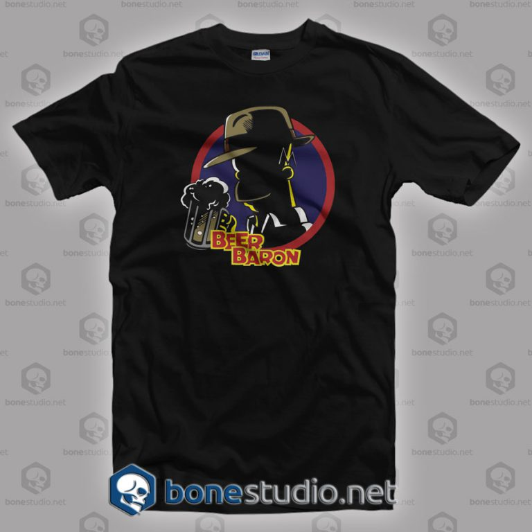 Beer Baron Homer Simpson Style T Shirt