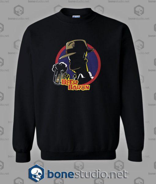 Beer Baron Homer Simpson Style Sweatshirt