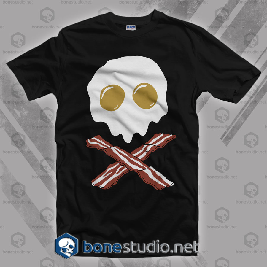 Breakfast Skull T Shirt