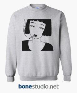 Chinese Smoking Girl Sweatshirt