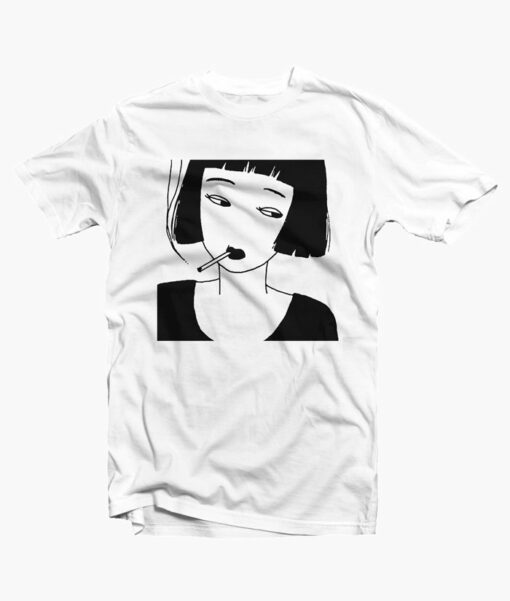 Chinese Smoking Girl Feminist T Shirt
