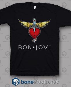 Clr Logo Bon Jovi Band T Shirt