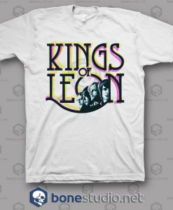 Colour Kings Of Leon Band T Shirt