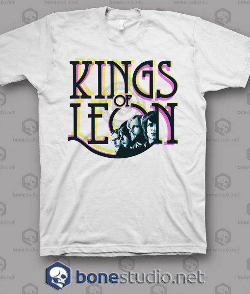 Colour Kings Of Leon Band T Shirt