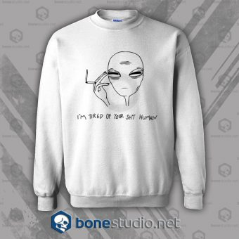 Cool Smoking Alien Sweatshirt