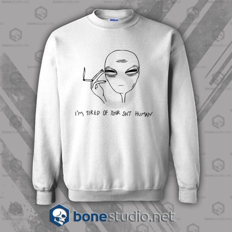 Cool Smoking Alien Sweatshirt
