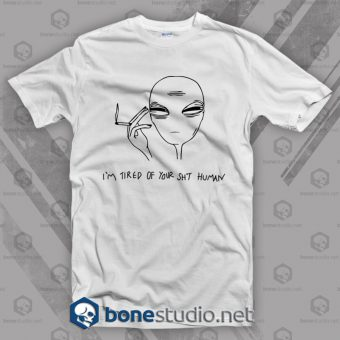 Cool Smoking Alien T Shirt