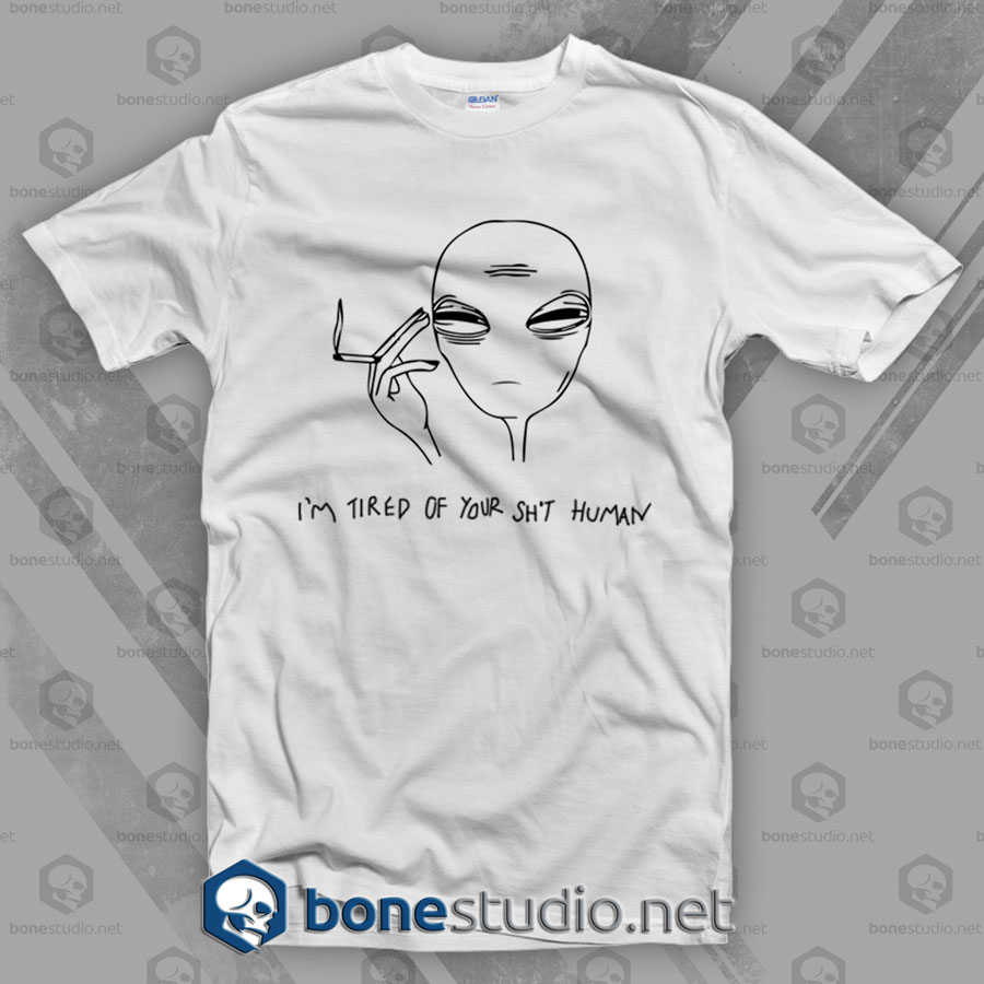 Cool Smoking Alien T Shirt