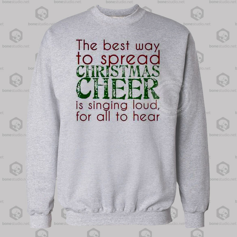 Elf Singing Christmas Sweatshirt