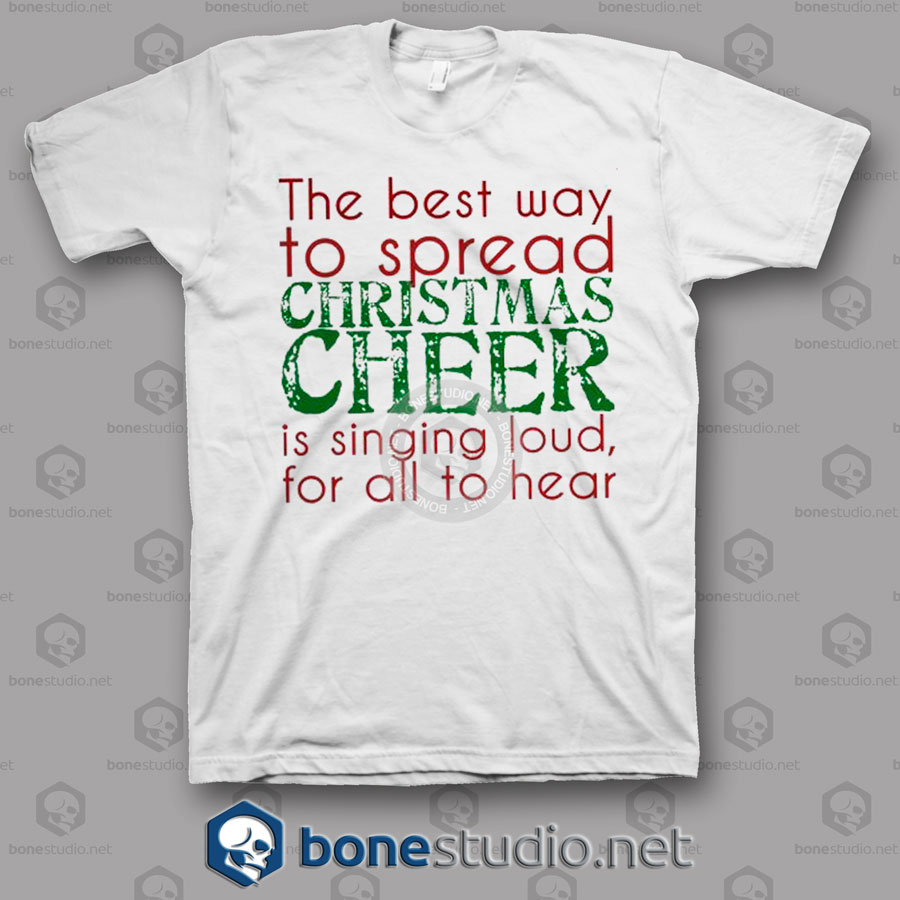 Elf Singing Christmas T Shirt