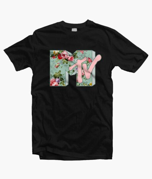 Floral Logo Mtv T Shirt