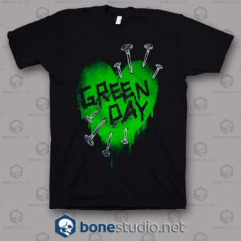 Green Day Band T Shirt