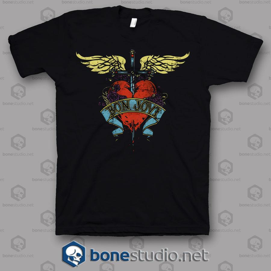 Grng Logo Bon Jovi Band T Shirt