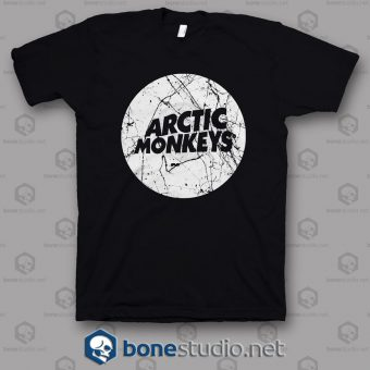 Grunge Style Logo Arctic Monkeys Band T Shirt