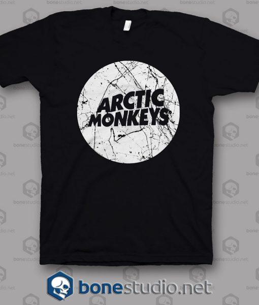 Grunge Style Logo Arctic Monkeys Band T Shirt