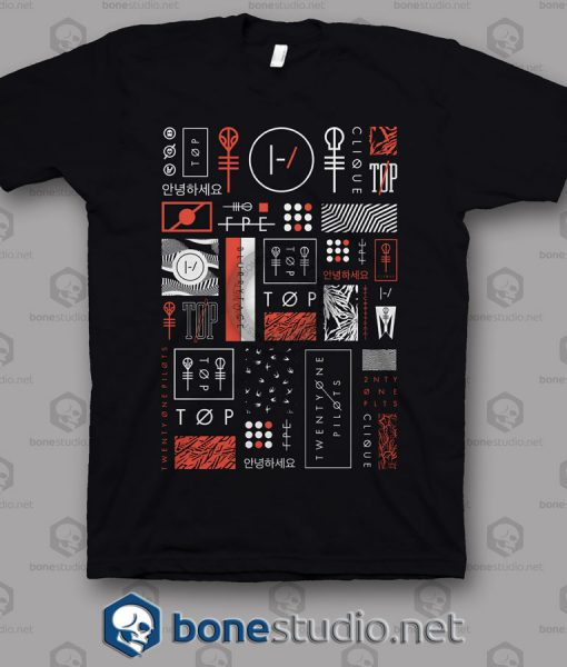 Icons Twenty One Pilots Band T Shirt