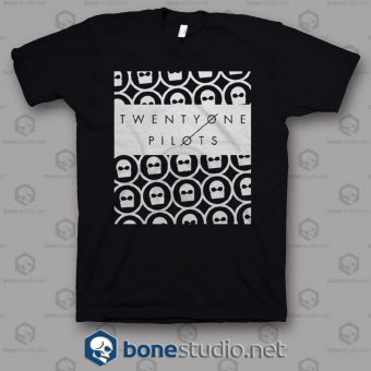 Interlocked Twenty One Pilots Band T Shirt