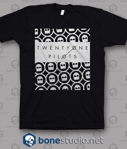 Interlocked Twenty One Pilots Band T Shirt