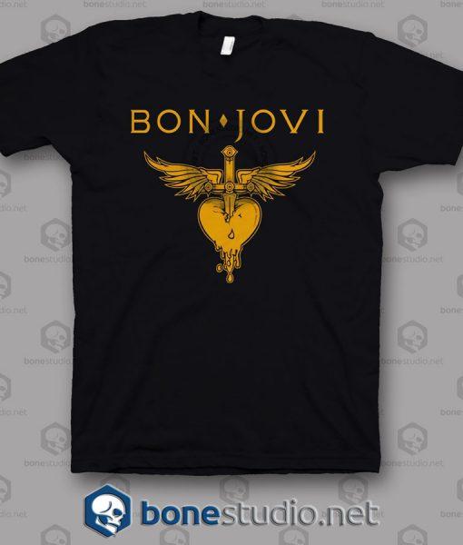 Logo Bon Jovi Band T Shirt