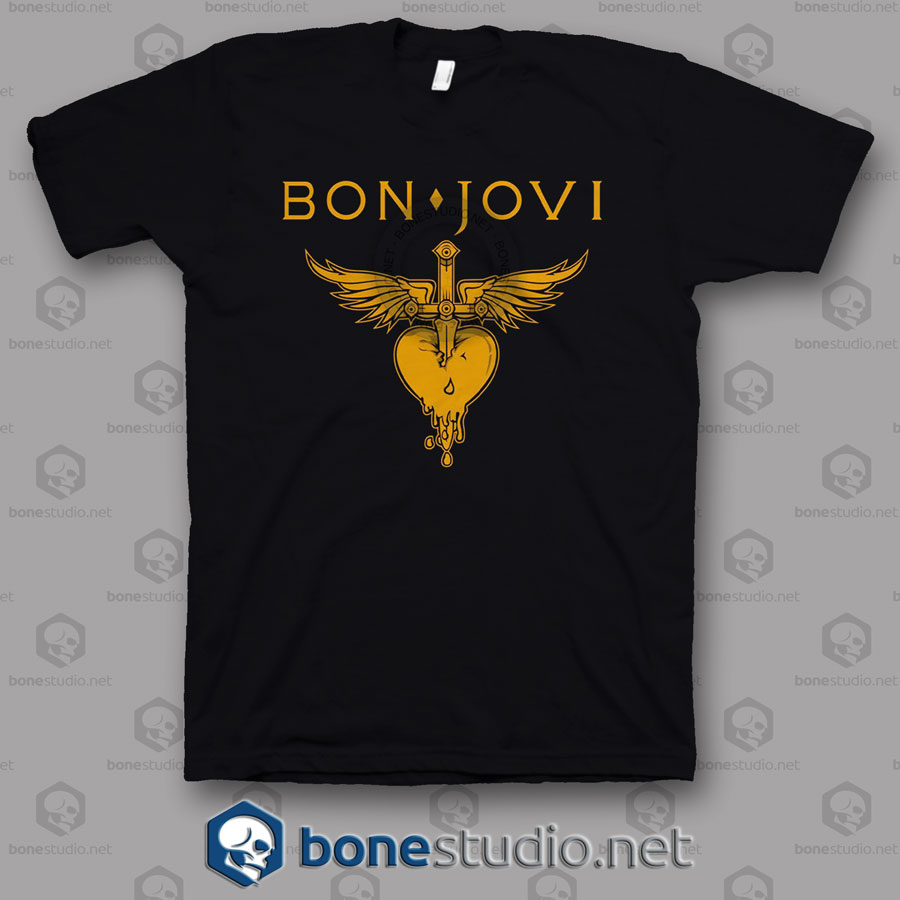 Logo Bon Jovi Band T Shirt
