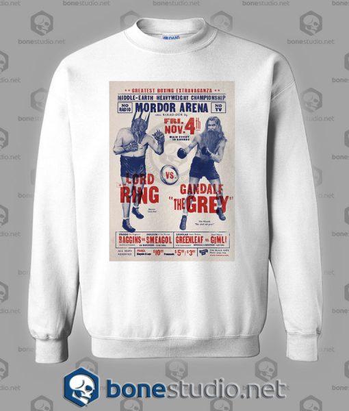 Lord Of The Ring Vs Gandalf The Grey Sweatshirt