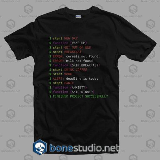Monday Programmer T Shirt