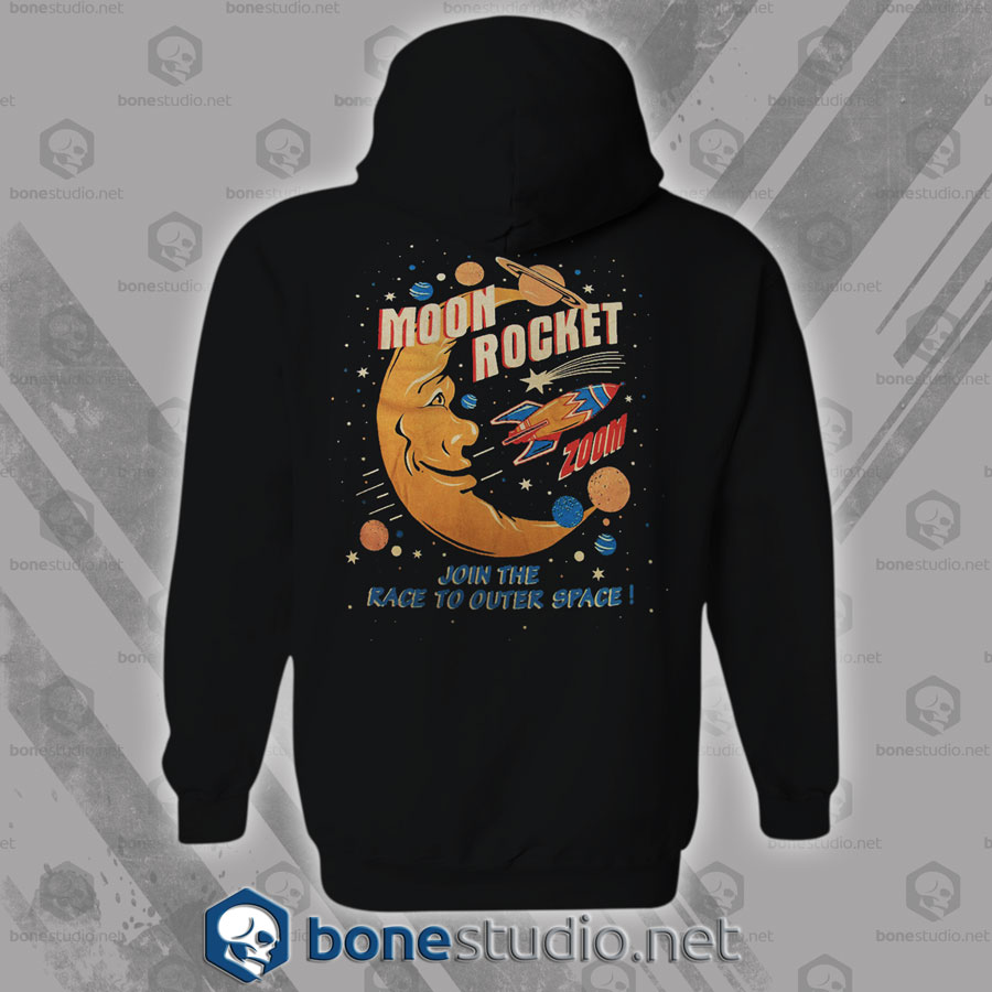 Moon Rocket Vintage Hoodies
