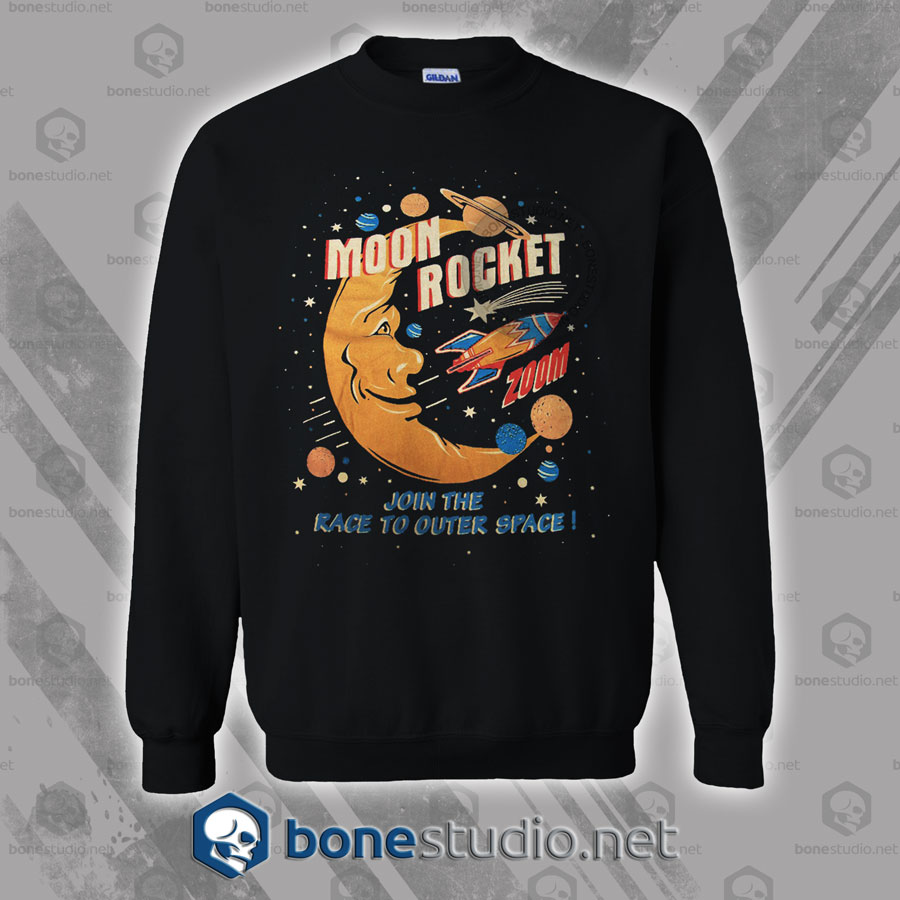 Moon Rocket Vintage Sweatshirt