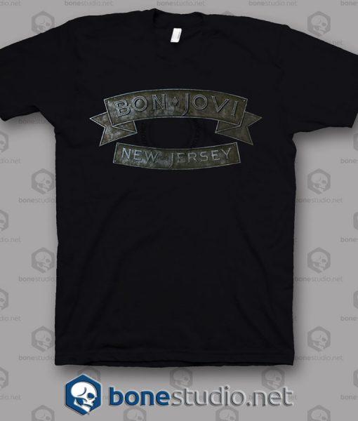 New Jersey Bon Jovi Band T Shirt