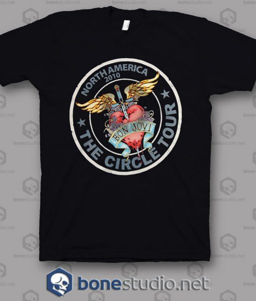 North America 2010 Tour Bon Jovi Band T Shirt