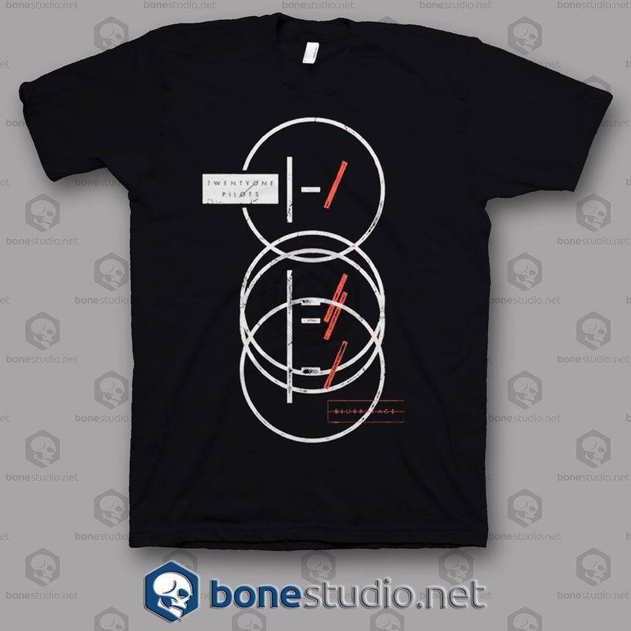 Over Stamp Twenty One Pilots Band T Shirt
