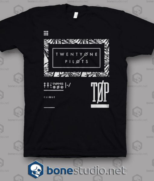 Palm Frame Twenty One Pilots Band T Shirt