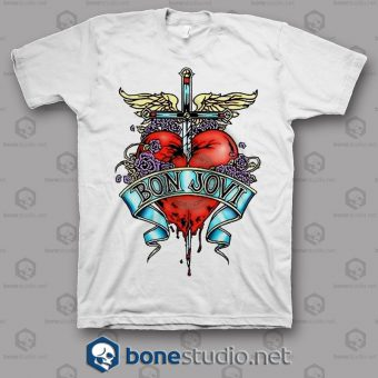 Sktch Logo Bon Jovi Band T Shirt