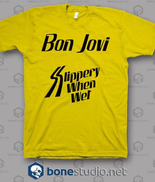 Slippery When Wet Tour Bon Jovi Band T shirt