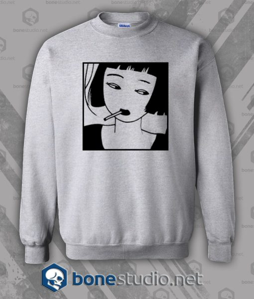 Chinese Smoking Girl Sweatshirt