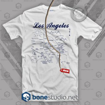 Los Angeles Map T Shirt