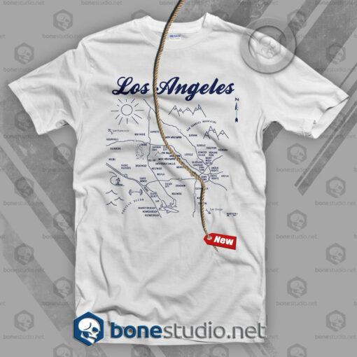 Los Angeles Map T Shirt