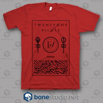 Thin Line Box Twenty One Pilots Band T Shirt