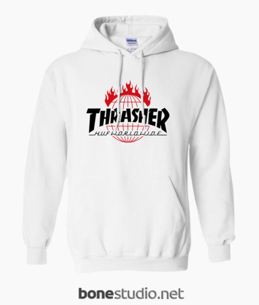 Thrasher Huf Worldwide Hoodies