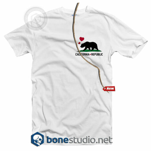 California Republic Pocket Style T Shirt