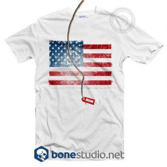 Grunge American Flag T Shirt