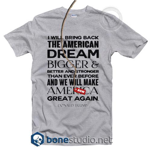 Donald Trump America Great Again T Shirt
