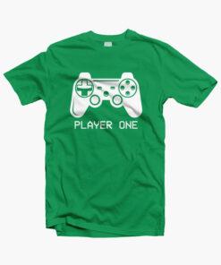 Player One Game T Shirt irish green