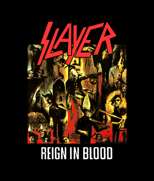 reign in blood slayer t shirt adult unisex size s 3xl. Black Bedroom Furniture Sets. Home Design Ideas