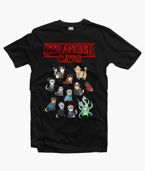 Stranger Cats T Shirt